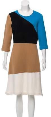 Diane von Furstenberg Wool Long Sleeve Midi Dress