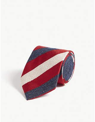 Eton Striped print silk-blend tie