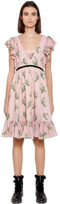 Blugirl Floral Printed Chiffon Dress