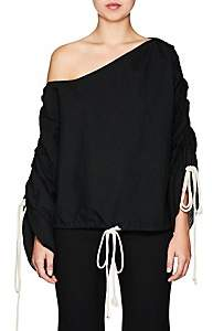 BY. Bonnie Young BY. BONNIE YOUNG WOMEN'S COTTON SEERSUCKER DRAWSTRING-SLEEVE TOP