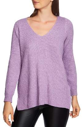 1 STATE 1.STATE Cutout Sleeve Ribbed Sweater