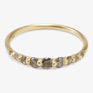 Polly Wales Gray Diamond Halo Ring