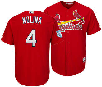 Majestic Men Yadier Molina St. Louis Cardinals Spring Training Patch Replica Cool Base Jersey