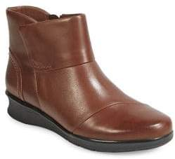 Clarks Collection By Hope Track Leather Ankle Boots