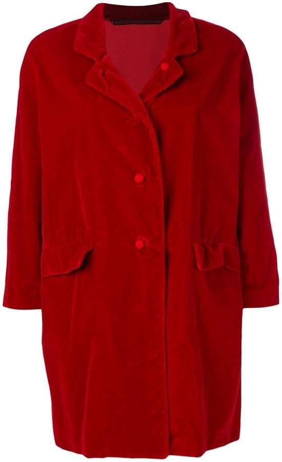 Daniela Gregis velvet single breasted coat