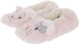 Accessorize Charlotte Fluffy Cat Ballerina Slippers