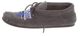 Kenzo Logo-Embroidered Moccasin Booties
