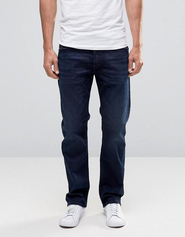 DieselDiesel Waykee Straight Jeans 677J Dark Indigo