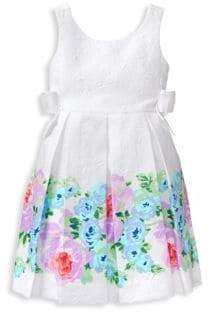 Janie and Jack Baby's, Toddler's, Little Girl's& Girl's Floral Border Dress