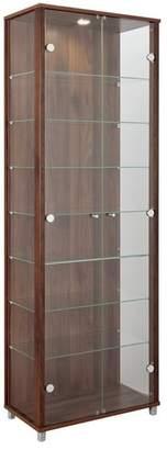 Argos Home 2 Glass Door Display Cabinet - Walnut Effect