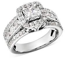 Bloomingdale's Diamond Square Halo Engagement Ring in 14K White Gold, 2.0 ct. t.w. - 100% Exclusive