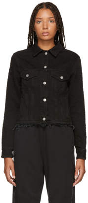Maison Margiela Black Pilling Brushed Denim Jacket