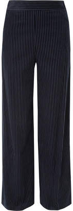 Frame Cotton-blend Corduroy Wide-leg Pants - Navy