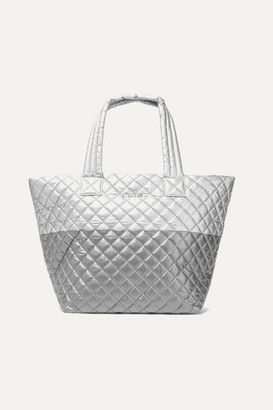 4fae27487be764 MZ Wallace Metro Medium Quilted Metallic Shell Tote - Silver