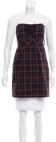 See By ChloeSee by Chloé Plaid Strapless Tunic