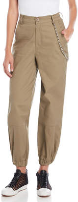 Hot & Delicious Olive Chain Cargo Pants