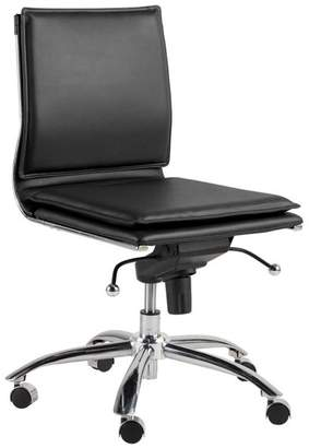 Euro Style Gunar Pro Low Back Armless Office Chair