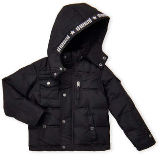 Diesel Boys 8-20) Sherpa Hood Bubble Jacket