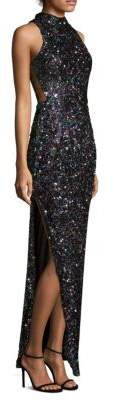 Aidan Mattox Sequin Column Gown