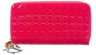 Christian Dior Patent Leather Cannage Wallet