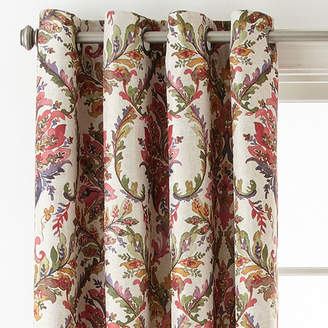 JCPenney JCP HOME Home Aurora Damask Blackout Grommet-Top Curtain Panel