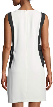 Cynthia Steffe Cece By Colorblocked Bow-Side V-Neck Dress