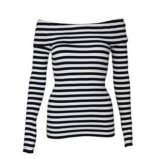 Milly Women's Off The Shoulder Rib Pullover