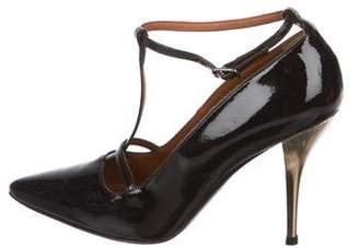Lanvin Patent Leather T-Strap Pumps