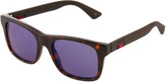 Gucci Square Tortoiseshell Acetate Sunglasses