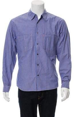 Balmain Striped Long-Sleeve Dress Shirt