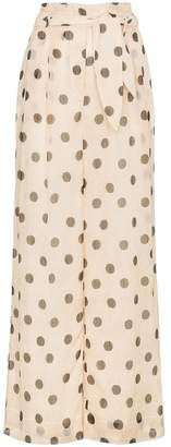 Nanushka polka-dot flared trousers