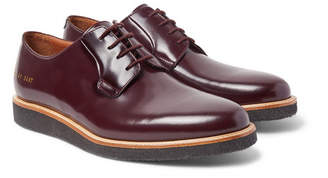 Common Projects Polished-Leather Derby Shoes - Men - Burgundy