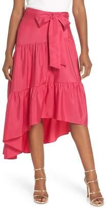 Eliza J Tiered High\u002FLow Skirt