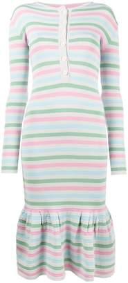 Natasha Zinko stripe print peplum dress