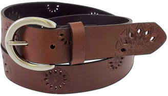Fashion Focus Accessories Embossed Leather Belt