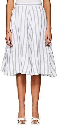 "Thierry Colson Women's ""Ikat"" Striped Linen-Blend Skirt"