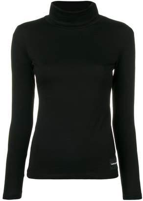 Calvin Klein Jeans logo patch turtleneck sweater