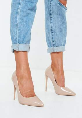 Missguided Nude PU Pointed Toe Pumps