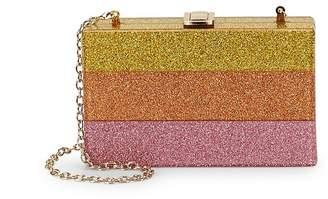 La Regale Women's Glitter Lucite Clutch