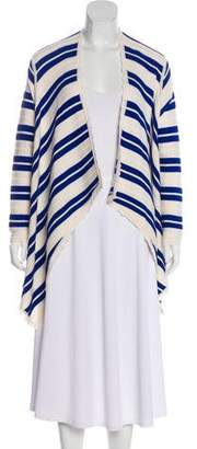 Yigal Azrouel Stripe Merino Wool Cardigan