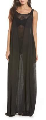 Elan International Crochet Inset Cover-Up Maxi Dress