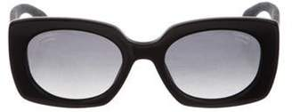 Chanel 2019 Denim Rectangle Sunglasses Black 2019 Denim Rectangle Sunglasses