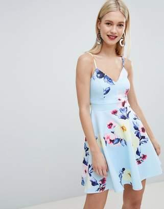 Lipsy floral print cami skater dress