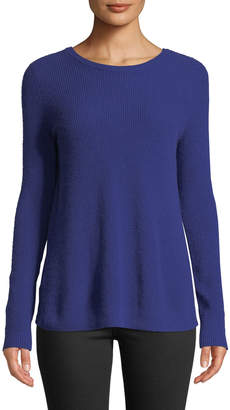 Autumn Cashmere Reversible Crossover-Back Crewneck Cashmere Sweater