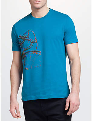 John Lewis Bicycle Print T-Shirt, Blue