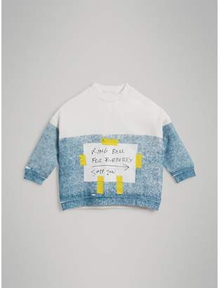 Burberry Sign Print Cotton Sweatshirt , Size: 8Y
