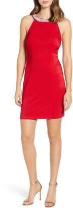 Love, Nickie Lew Side Illusion Sleeveless Sheath Dress