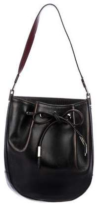 Burberry Leather Drawstring Shoulder Bag