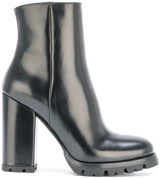 Prada ridged sole boots