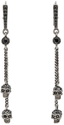 Alexander McQueen Silver Chain Skull Earrings